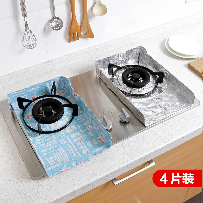 4 piece kitchen grease cooking foil insulation splashplate creative appliance gas oil baffle plate