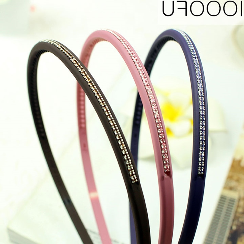 With anti slippery tooth diamond hoop hoop card pressing hoop fine black hair bangs hair wash
