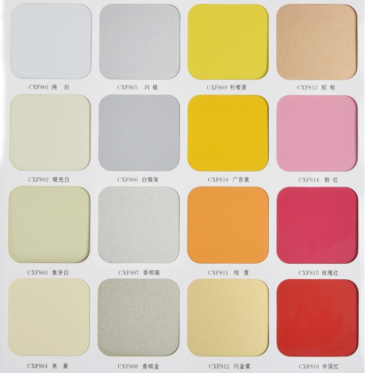 Direct manufacturers CXF monochromatic aluminum plate 4mm45 wire 64 color plate wall slotted head popularity
