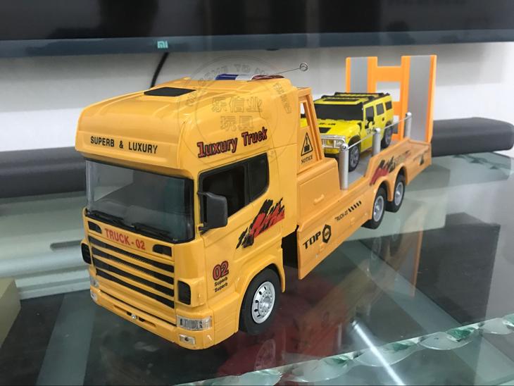 Tuba flat lkw - Güterverkehr MIT elektrischen fernbedienung kopf der spielzeug - Auto - anhänger - Modell