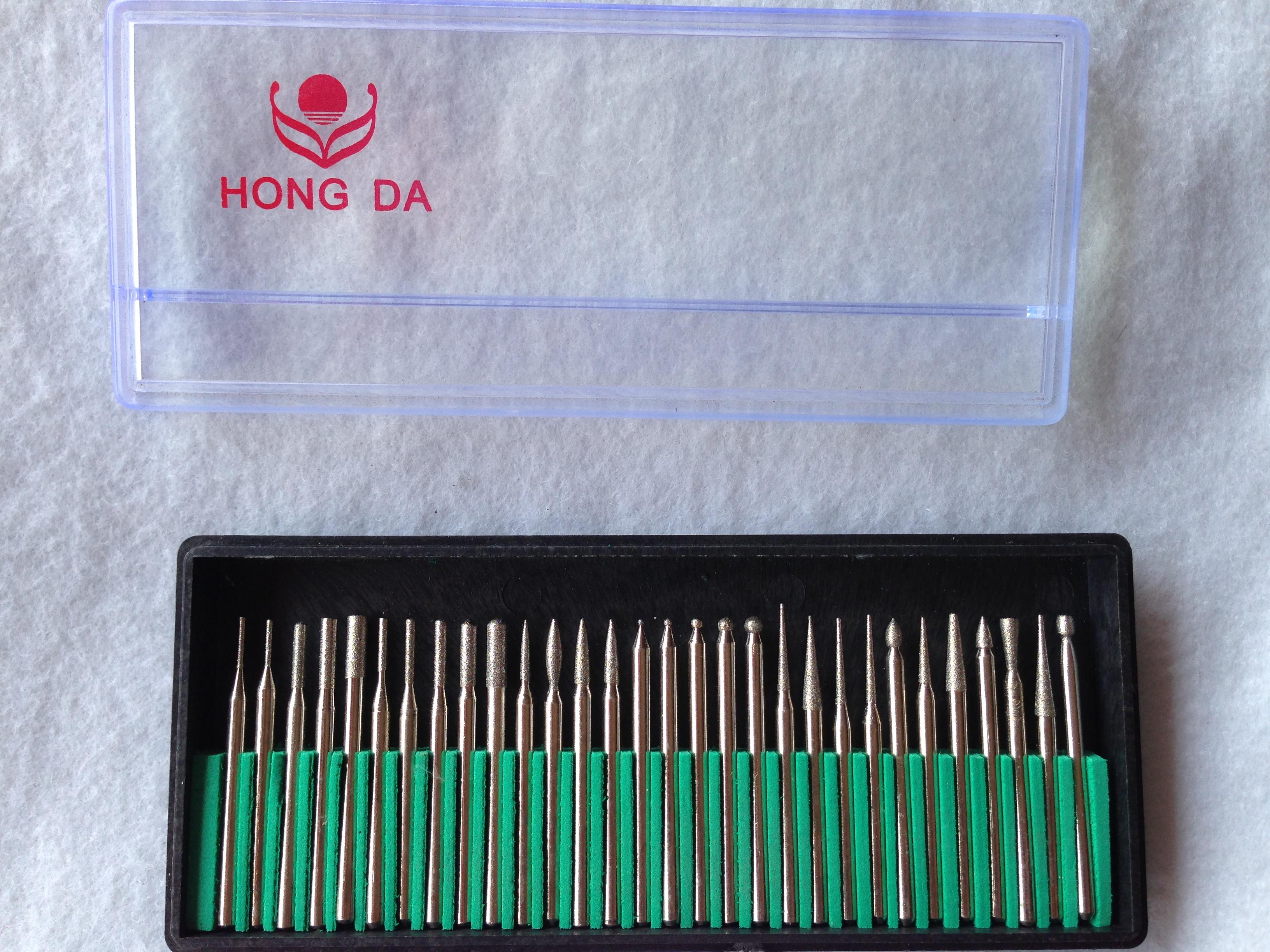 Boutique 30 cigarrillos de aguja de diamante, el Diamante de la cabeza / BAR / base / 3 de mango