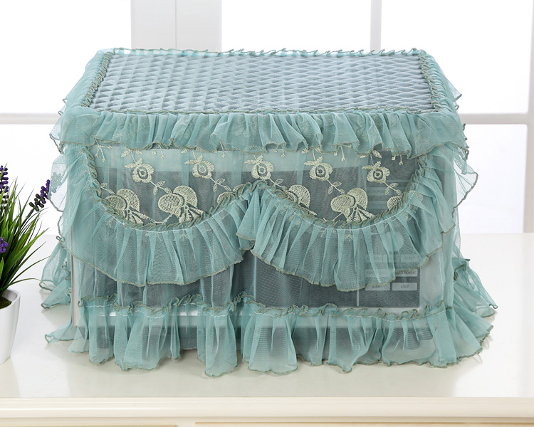 Galanz microwave oven cover beautiful pastoral cloth lace cloth water-proof and oil proof washable Korean electric oven cover