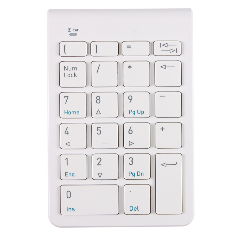 Το πληκτρολόγιο του ελαφρού φορητού υπολογιστή ασύρματων ψηφιακών λογιστικών εξωτερική μίνι μη μηχανικές χέρι τον μικρό αριθμό
