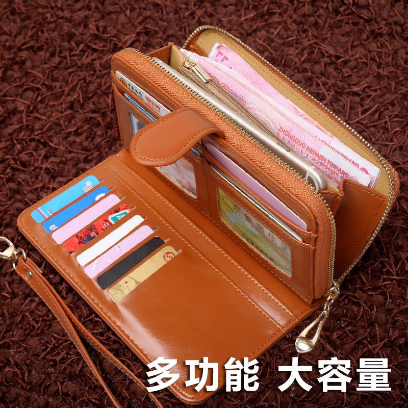 钱包女长款2017新款日韩版潮个性简约女士手拿包零钱位学生软皮夹