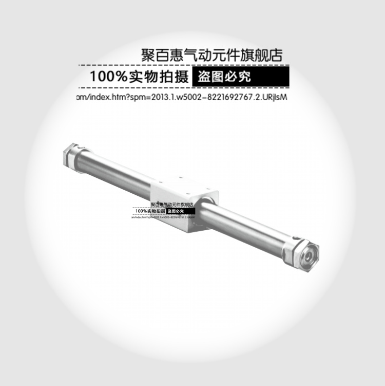 Sinusoidal magnetic dipole type rodless cylinder REA63-100-150-200-250-300-350-400-450-500