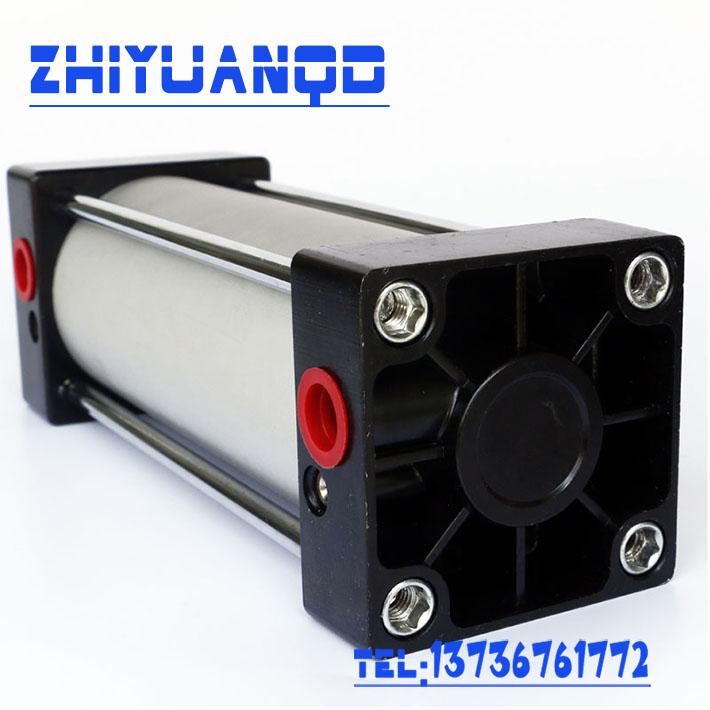 La lumière de type standard QGB400-25-500 grand alésage de cylindre du cylindre la tige de traction fixé à double cylindre magnétique réglable