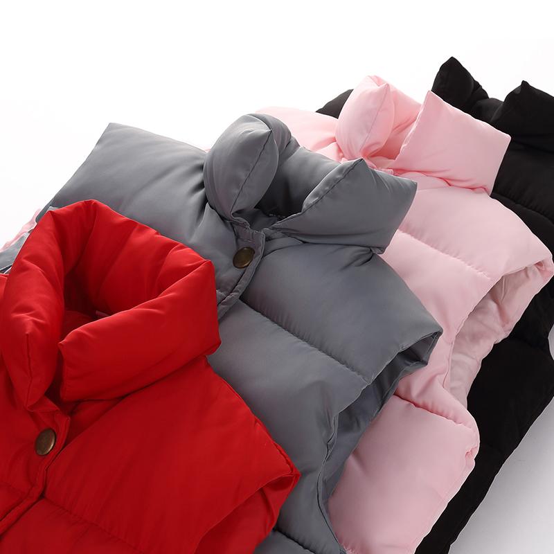 童装反季儿童羽绒棉马甲韩版男童宝宝立领冬装加厚棉衣小女童外套