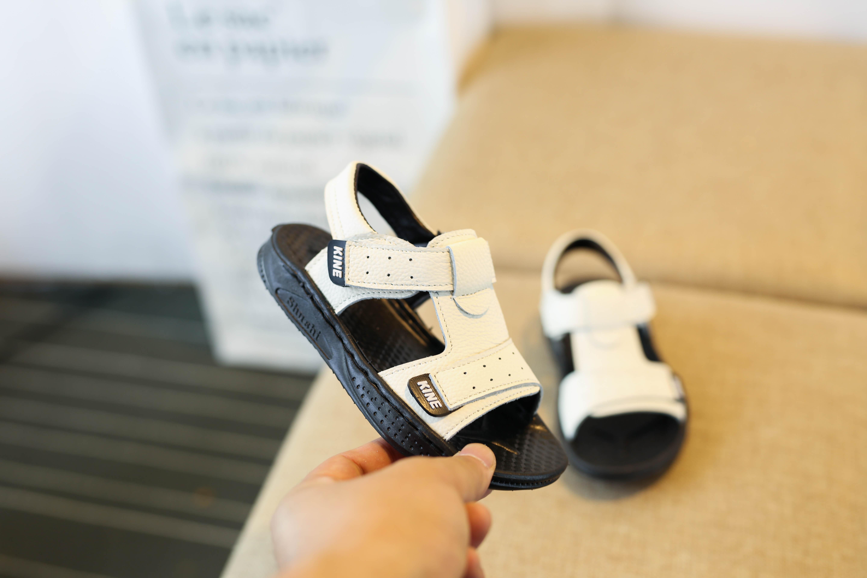 天天特价新款夏季韩版真皮男童凉鞋儿童沙滩鞋防滑软底男宝宝凉鞋