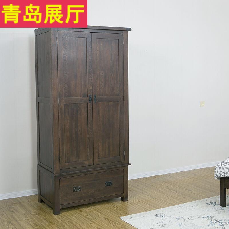 Garde - robe de chambre de bois de chêne blanc placard second placard à portes américain village européen de rétro - armoire simple