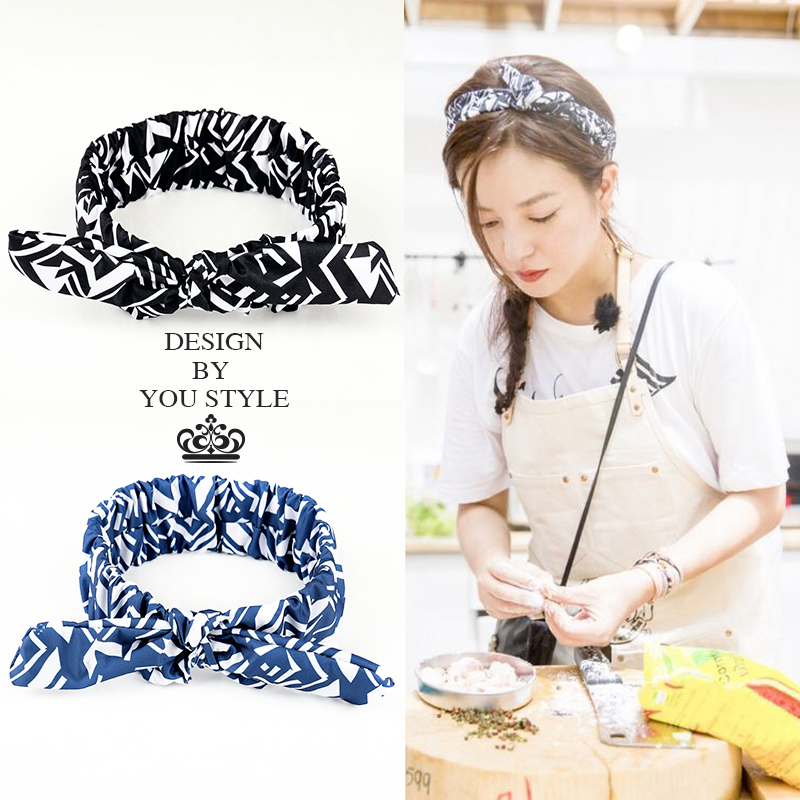 Zhao Wei with a hair band female Korean chic rabbit ears wash Hair Barrette brimmed headdress cute hair accessories