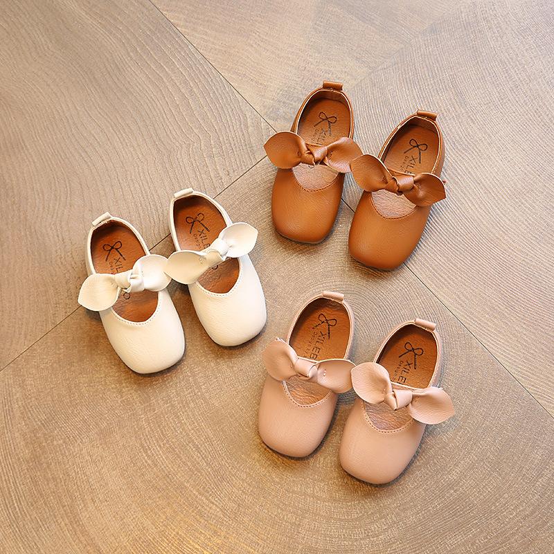 女童奶奶鞋春秋新款软底防滑宝宝单鞋1-3岁韩国4-7小女孩豆豆鞋潮