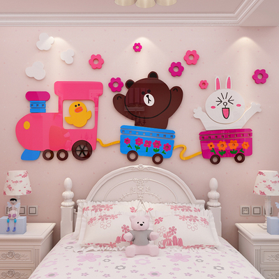 3D Wall Stickers kindergarten anime cartoon acrylic wall stickers bedroom children's room wall decoration