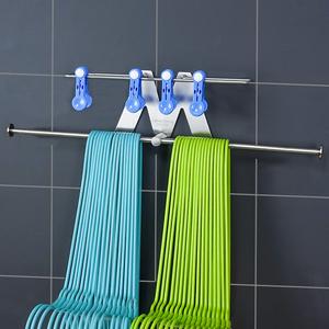 多功能阳台衣架收纳神器 省空间壁挂整理架 家用挂衣架挂钩免打孔