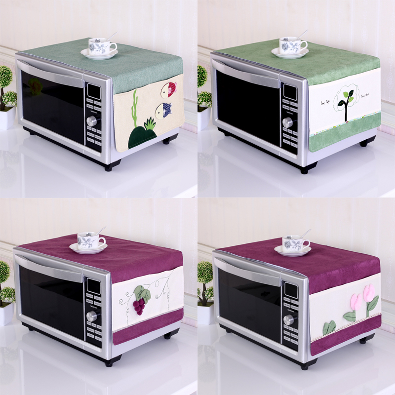 Microwave oven microwave oven cover fabric thickening pastoral beauty Galanz oil proof oven cloth dust cover cover towels