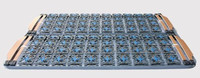 Deluxe double bed frame plastic which ranked skeleton thick 1.5/1.8/2 folding 180*200 meters
