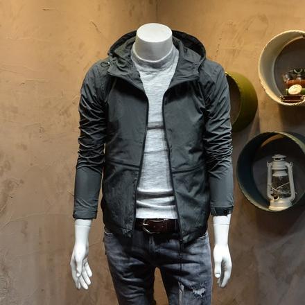 2017秋季薄款夹克外套 韩版修身型男式青年休闲连帽开衫 男夹克衫