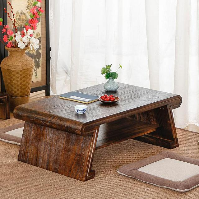 The table Ancient Chinese Literature Search bed Piaochuang wood tea table table Kangtou Mini tatami platform small Paulownia tea