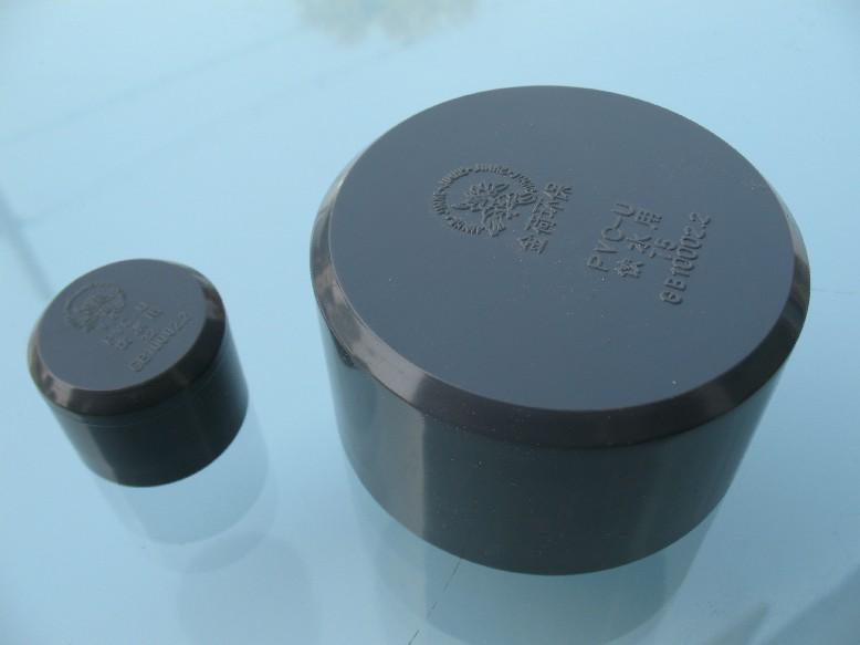 UPVC/PVC cung cấp nước giai, phụ kiện ống đầu đen, đen, DN150160MM6 inch.