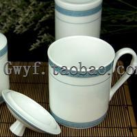 - thao licensiering av guld i jingdezhen röda keramiska] särskilda kontor harmoni och vit koppar en enda kopp te