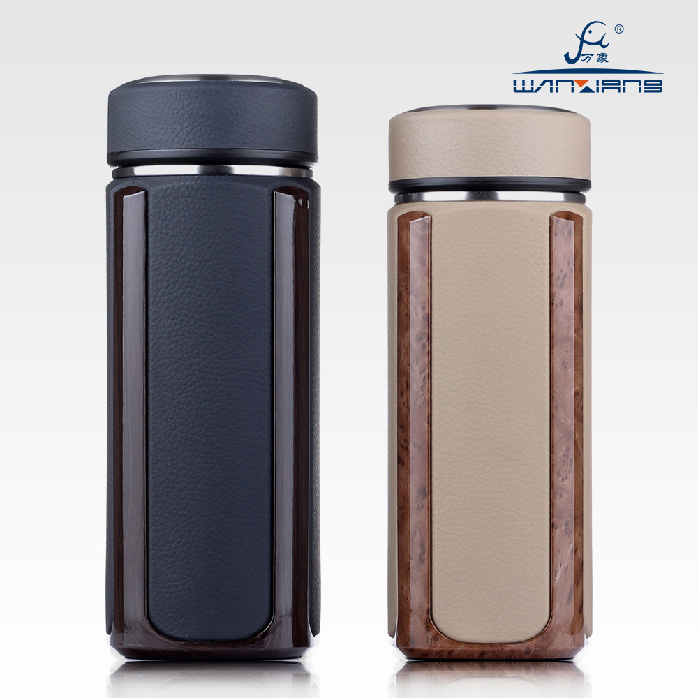 Wanxiang thermos cup, tea making filter net, fashion lady vacuum stainless steel office business cup