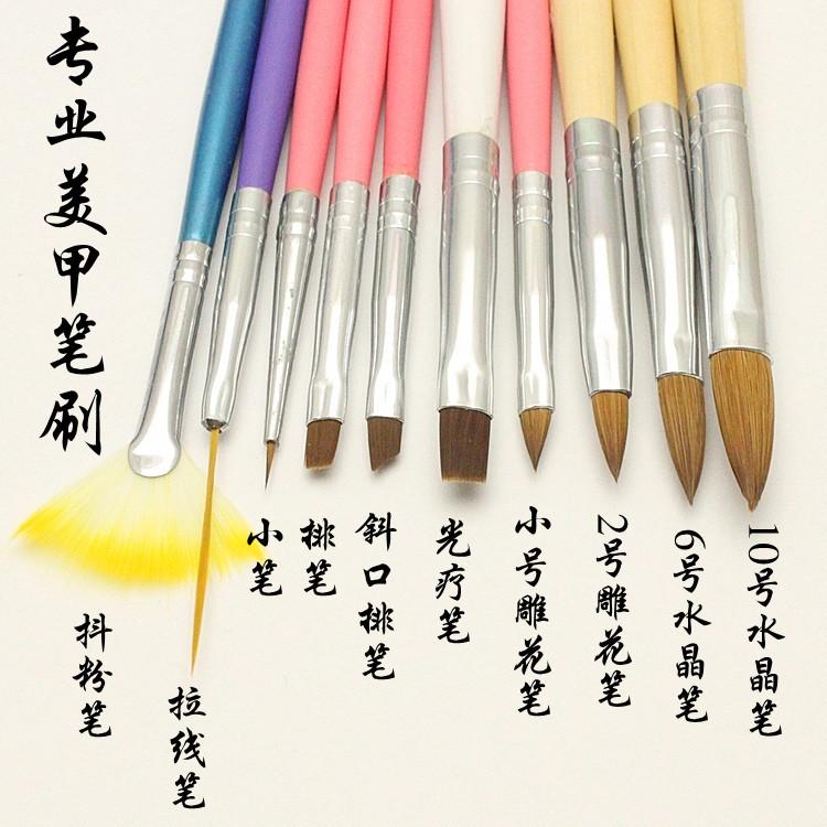 Prodotti per le unghie di tutta una serie di strumenti di Legno dipinto Le unghie lunghe Penne inciso fototerapia Crystal Rod pratica Penna