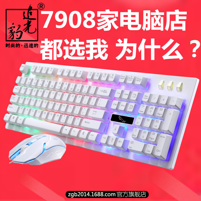 G20 - Kabel USB - Spiel DEM Leopard MIT tastatur und Maus leuchten Aussetzung der mechanischen tastatur, Maus - Suite - Großhandel