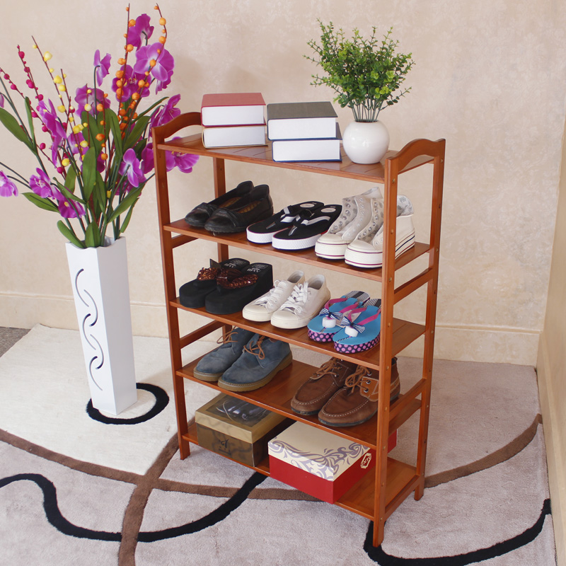 A simple multi-layer solid wood bamboo shoes shelf rack dustproof shoe racks shoe IKEA special offer