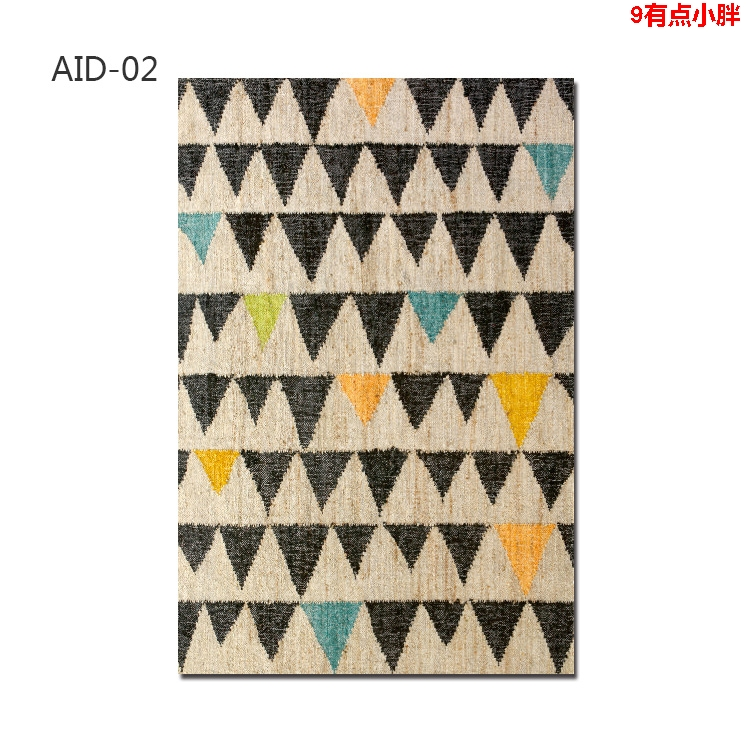 India unilik new hand woven abstract art hall bedroom living room Ada natural jute carpet