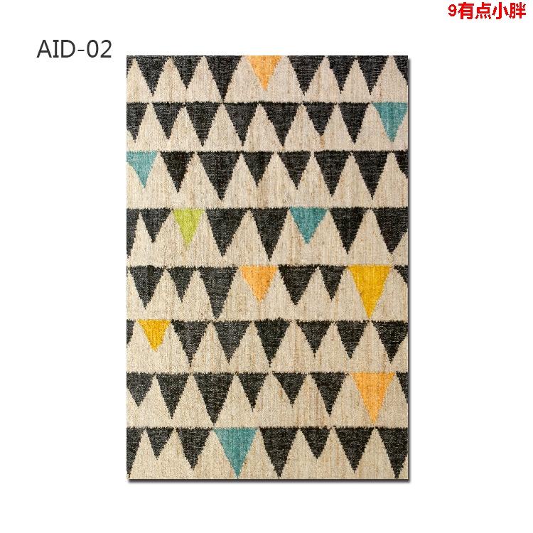 вертикальный новые преимущества Индии вязаном абстрактного искусства гостиной спальни ковры фойе ада натуральный джут