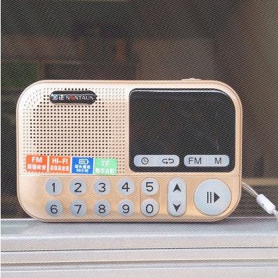 C-806 music player, portable charging card, small speaker, m