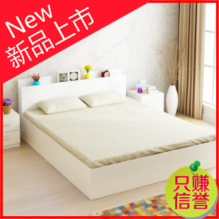 High storage box type bed tatami wood 1.51.2 meters modern minimalist 1.8 meters double bed a single bed