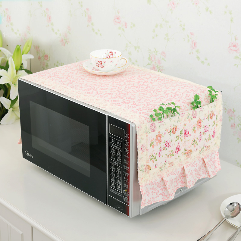 Korean fashion fabric microwave oven cover a variety of beautiful lace microwave dust cover glanse garden oven cover