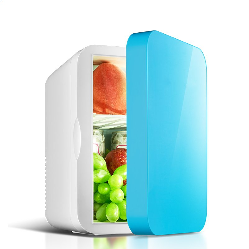 The new car refrigerator mini fridge door small household refrigeration cooling and heating dual-purpose dormitory car home
