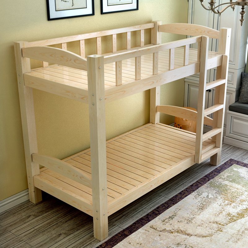 Solid wood bunk bed adult children bed bed mother elevated bed of white wood kimata bunk bed double bed