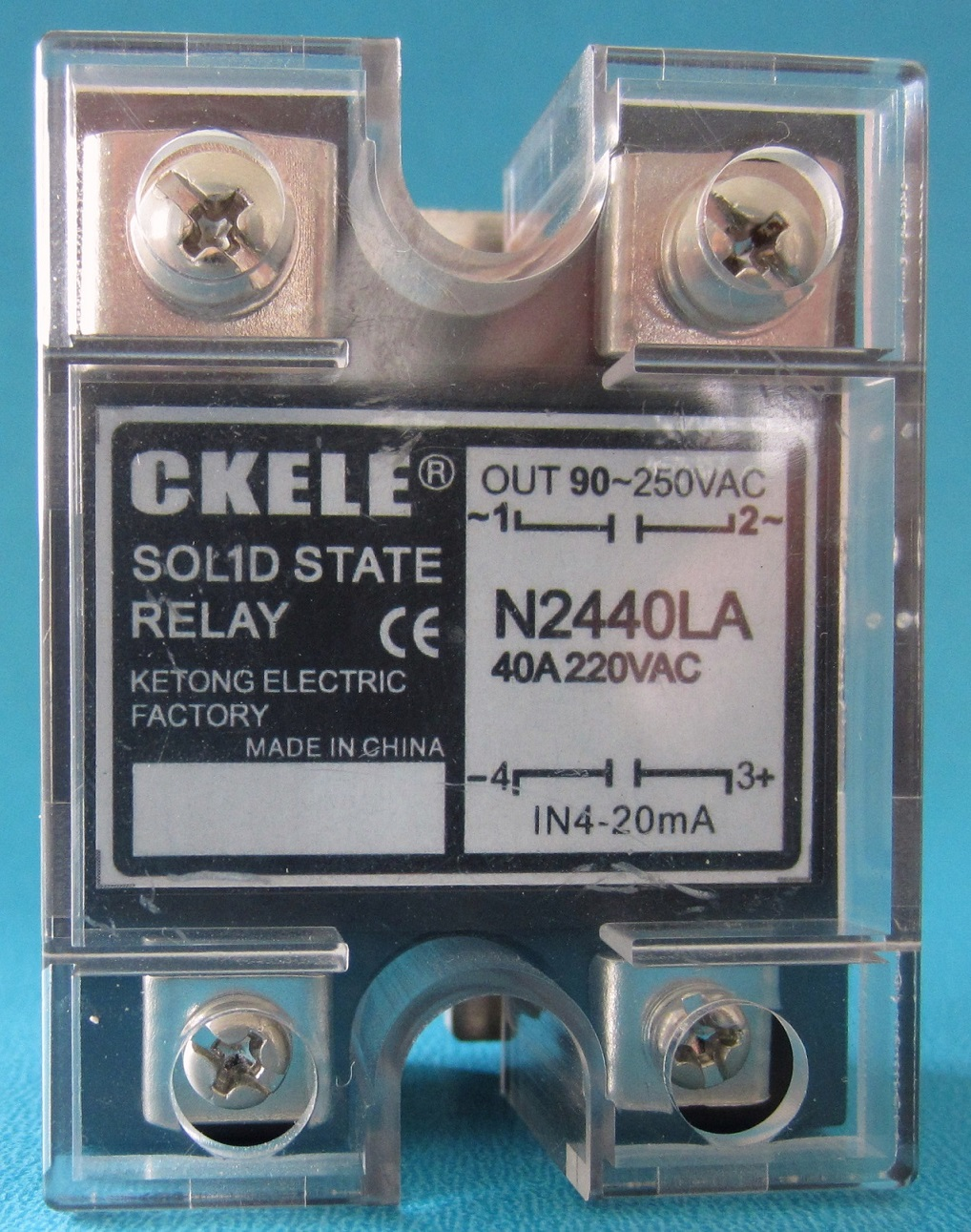 Single phase solid state power regulator N type current 4-20mA input N2480LA80A load 90-250VAC