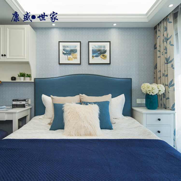Cloth light luxury double Hong Kong style modern primary and secondary bedroom bed Jane new classical industrial Style Villa Hostel