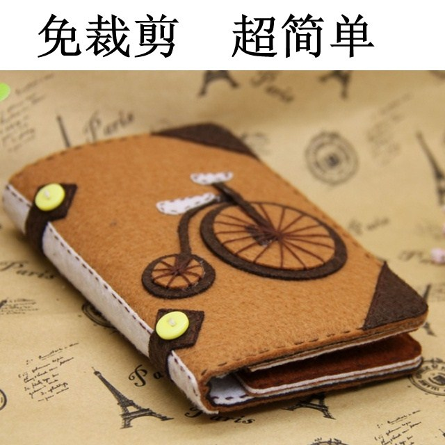 Free cutting non woven bicycle long wallet wallet purse handmade handmade DIY wallet package