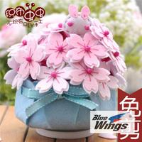 Nonwoven material package handmade cloth love cat mother's Day carnation rotary music box music box material