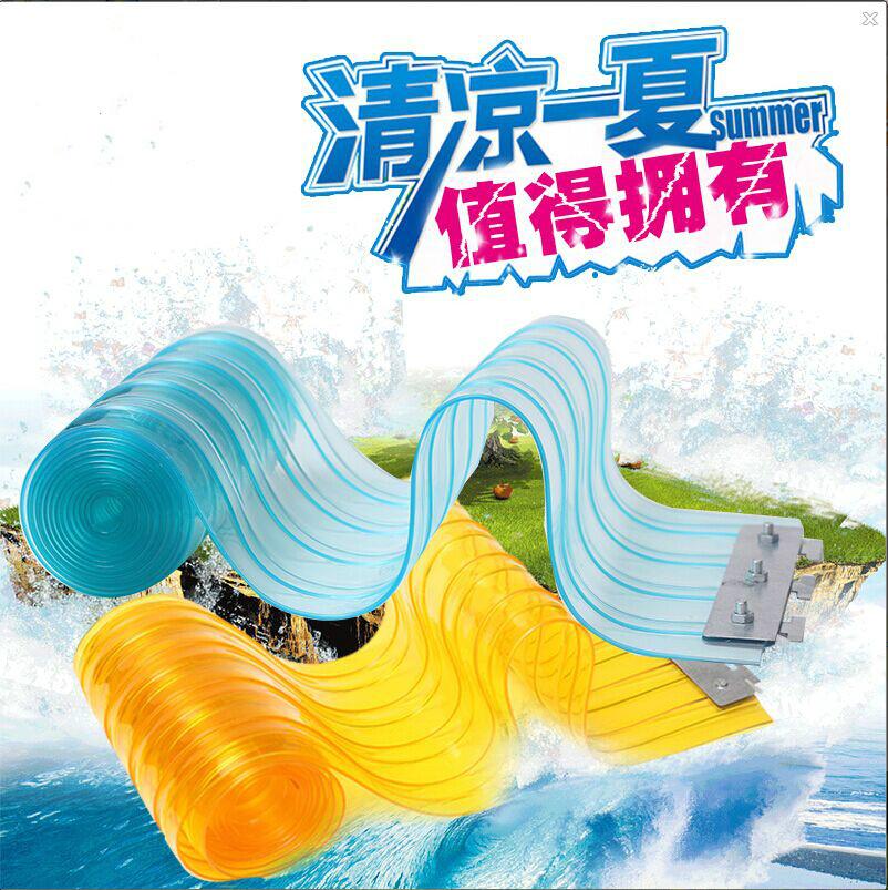 Trong suốt mùa hè, rèm cửa mui xe máy điều hòa PVC nhựa mềm PVC ngăn cách treo cái mui xe chống bụi