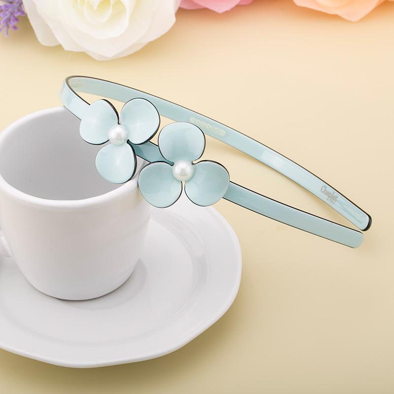 韓国の真珠の花カチューシャ酢酸板材頭発発箍アクセサリの滑り止めの職業AG01624シュシュ