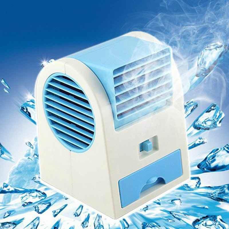 小型扇風機水冷水クーラーオフィスベッドに身につけてミニモイエアコン無葉扇風機