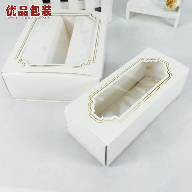 5 เม็ดปั๊มกล่องบรรจุภัณฑ์เบเกอรี่สไตล์ยุโรปมาคารอนโปร่งใสหน้าต่างกล่องช็อคโกแลตกล่องเค้ก , กล่องขนม