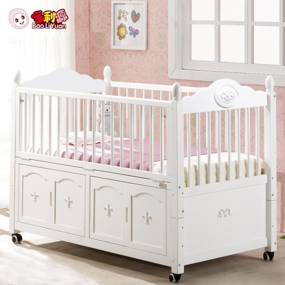 ベビーベッド材の児童のベッド赤ちゃんベッド双子ベビーベッド輸出多機能の少年童床裸ベッド