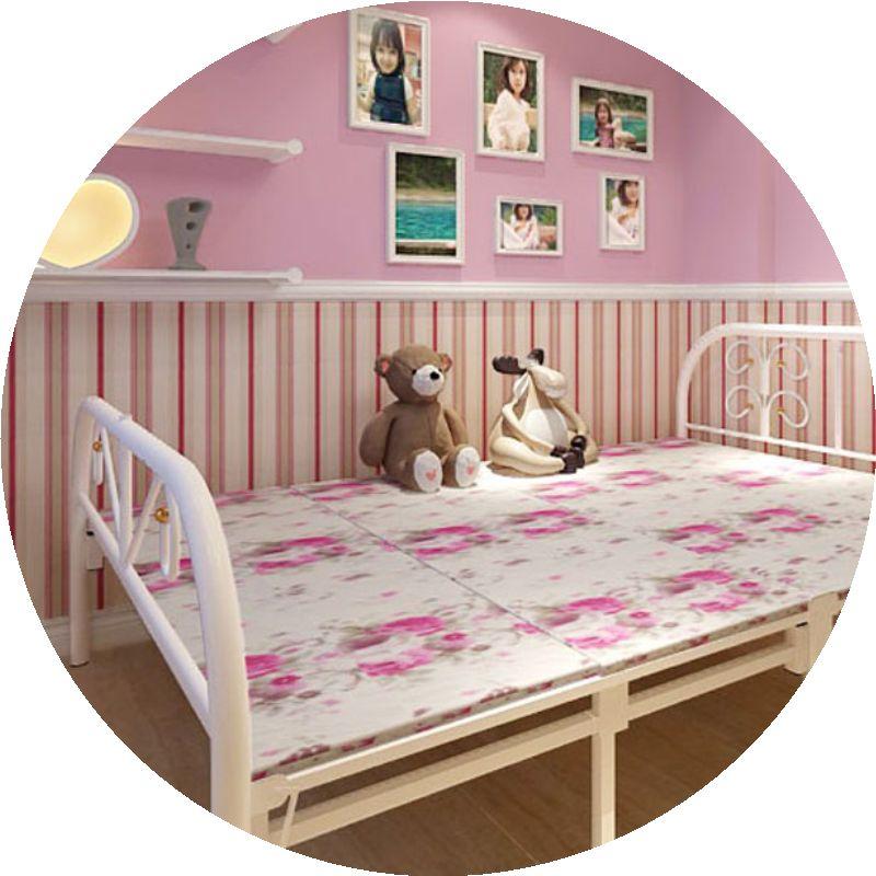 складные кровати односпальные кровати Кровать и укрепление НПД деревянная кровать офиса 1,2 метров 1,5 метров простой четыре Кровать двуспальная кровать