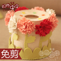 Nonwoven materials package DIY handmade cloth mother's Day carnation towel roll of paper free cutting kindergarten