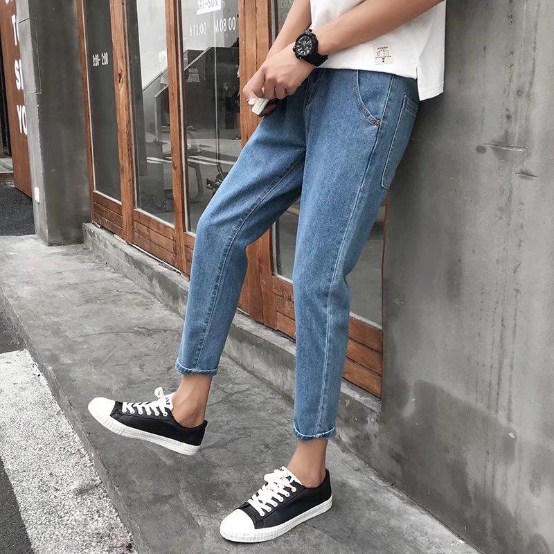 秋季牛仔裤男士修身小