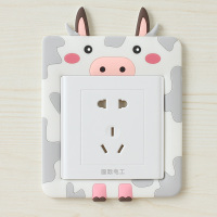 3 European style decorative wall stickers affixed protective sleeve switch socket sleeve switch