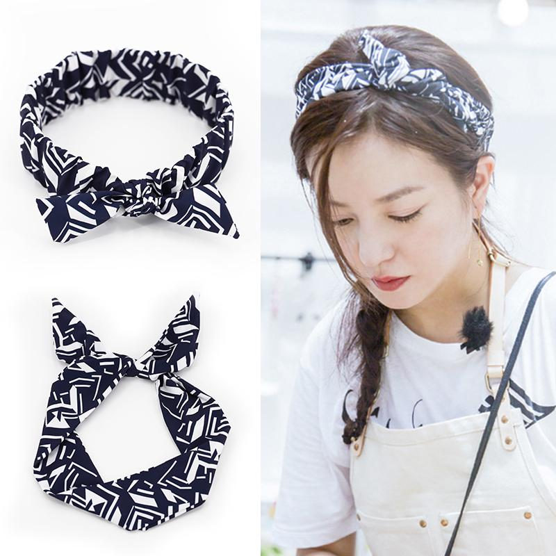 Zhao Weizhong restaurant with a variety of rabbit ear hair band hoop cloth wire headband broadside hair cave pressure