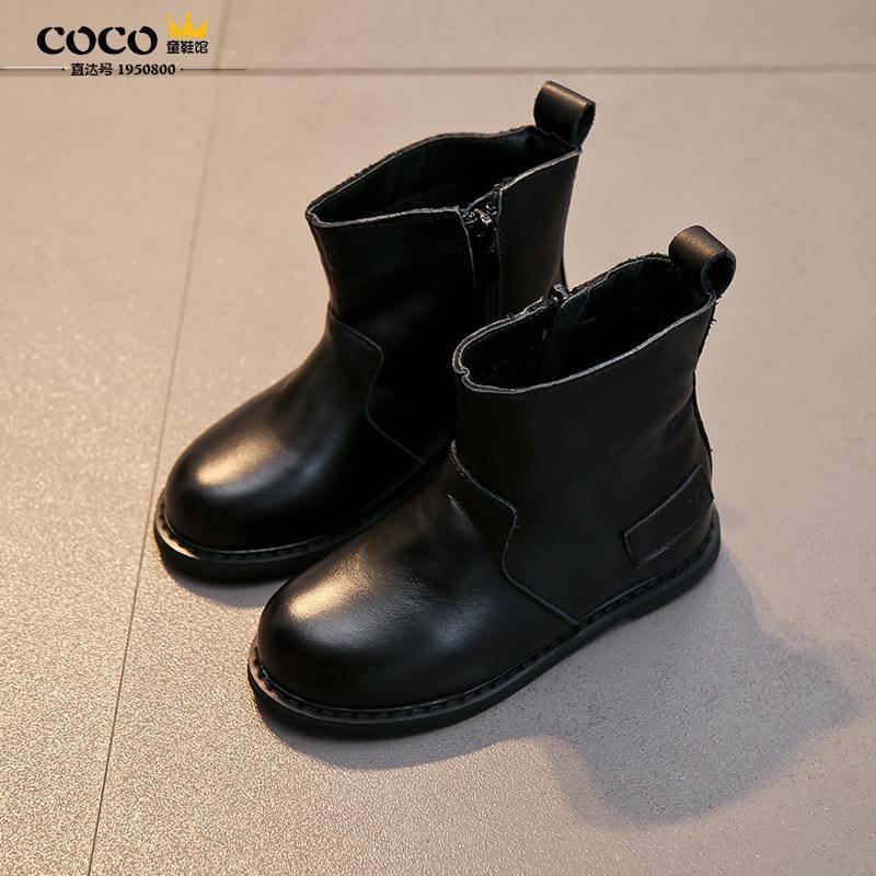 儿童靴子韩版女童马丁