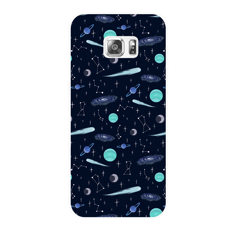 Blue line star shell Samsung NOTE345A5789C5S7S6edge+ mobile phone shell